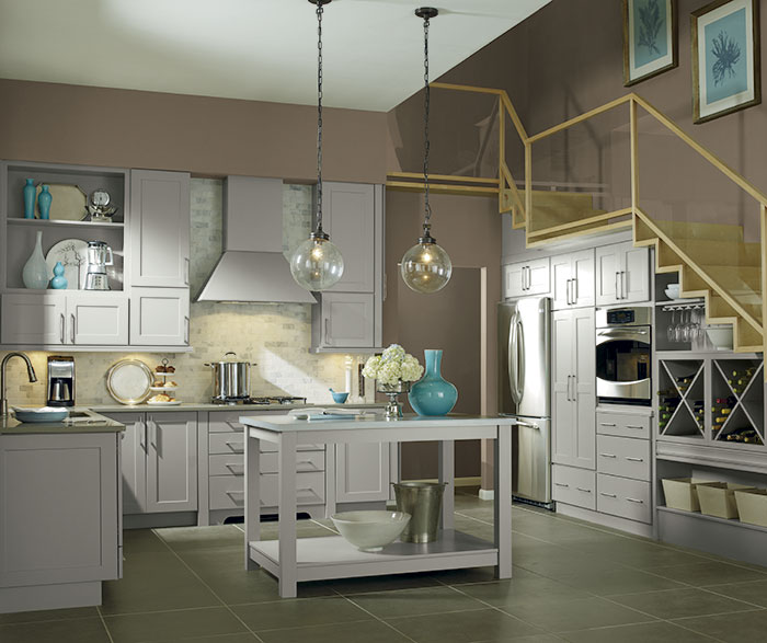 Light Gray Kitchen Cabinets Kemper Cabinetry